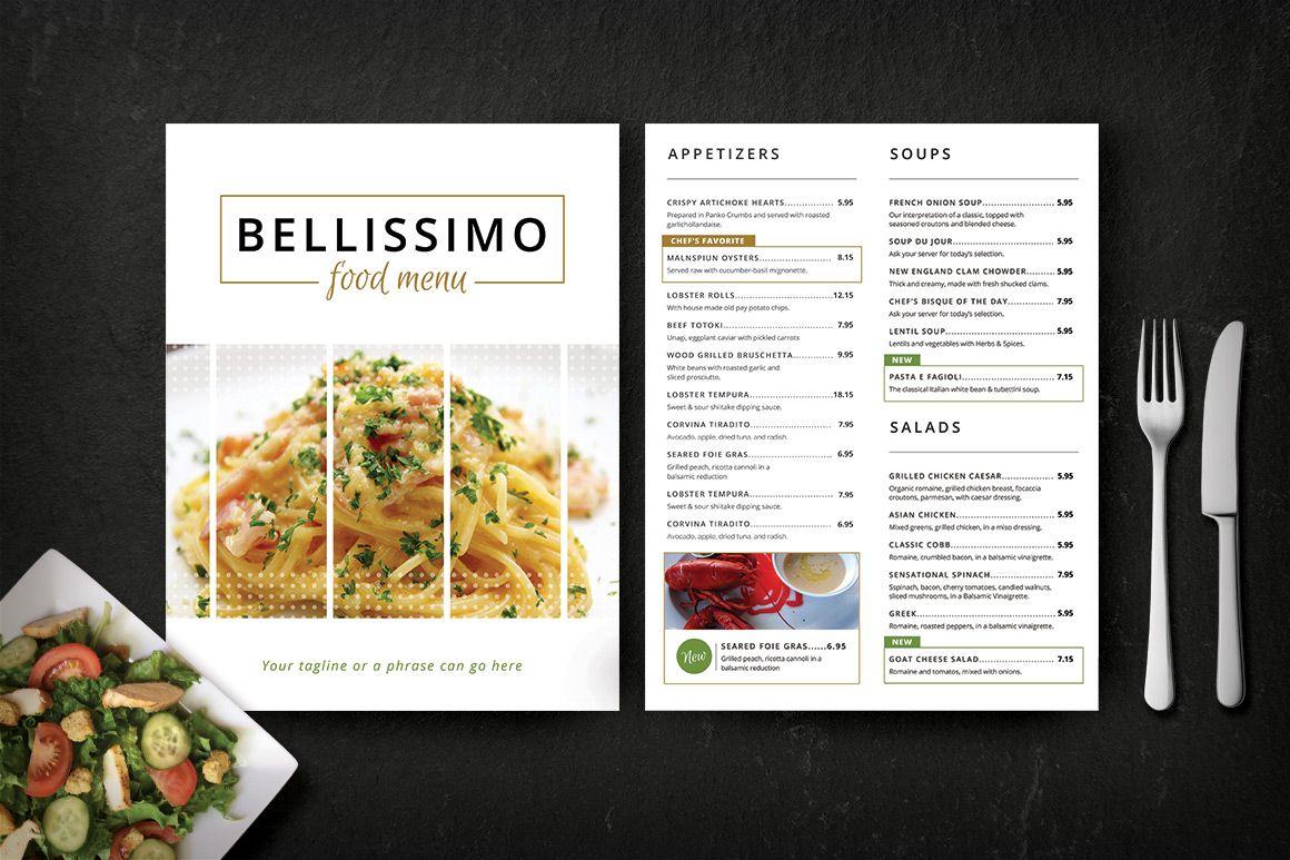 Modern Restaurant Menu (Bellissimo)