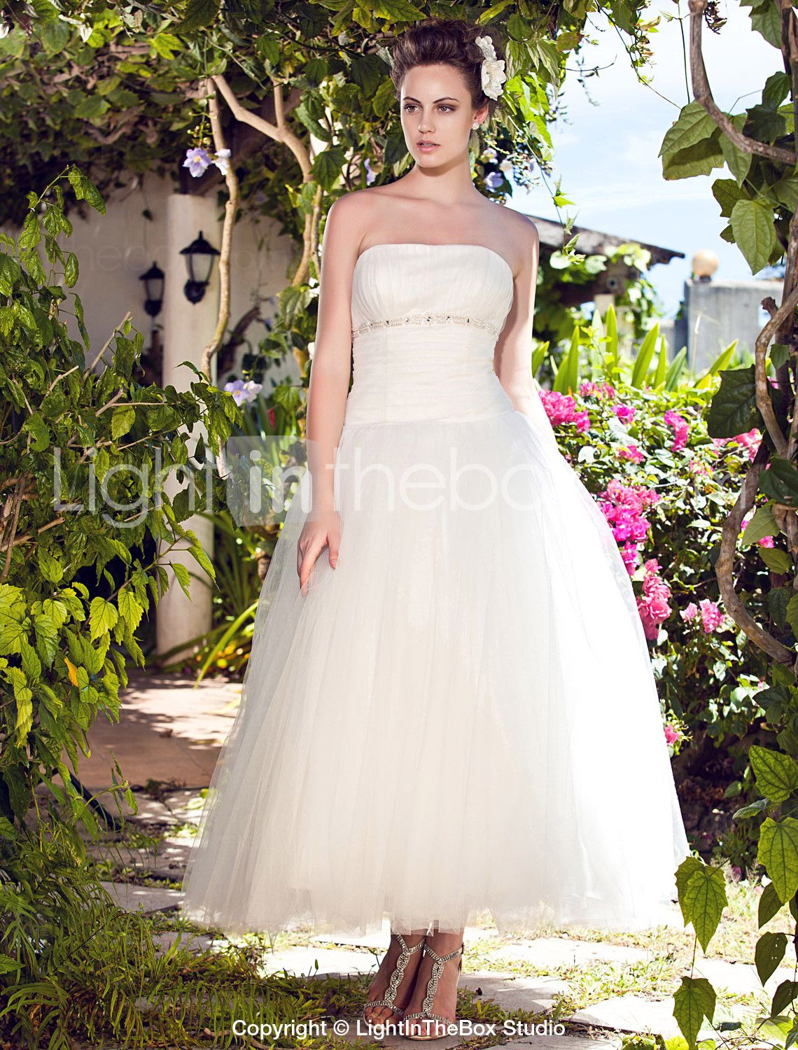 [99.99] Ball Gown Strapless Ankle Length Tulle MadeTo