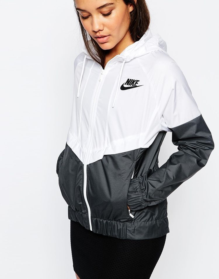 air max nike womens white windbreaker with hood