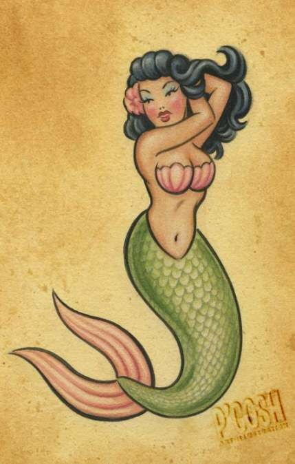 53+ Best Ideas For Tattoo Mermaid Pinup Beautiful