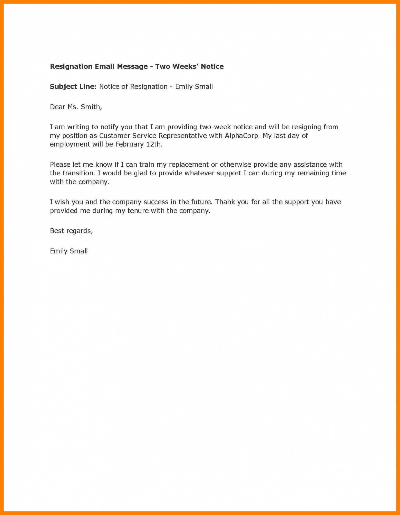 Two Week Resignation Letter Best Of Resignation Letter Sample 2 Weeks Notice Google Search Resignation Letter Resignation Letters Resignation Letter Sample