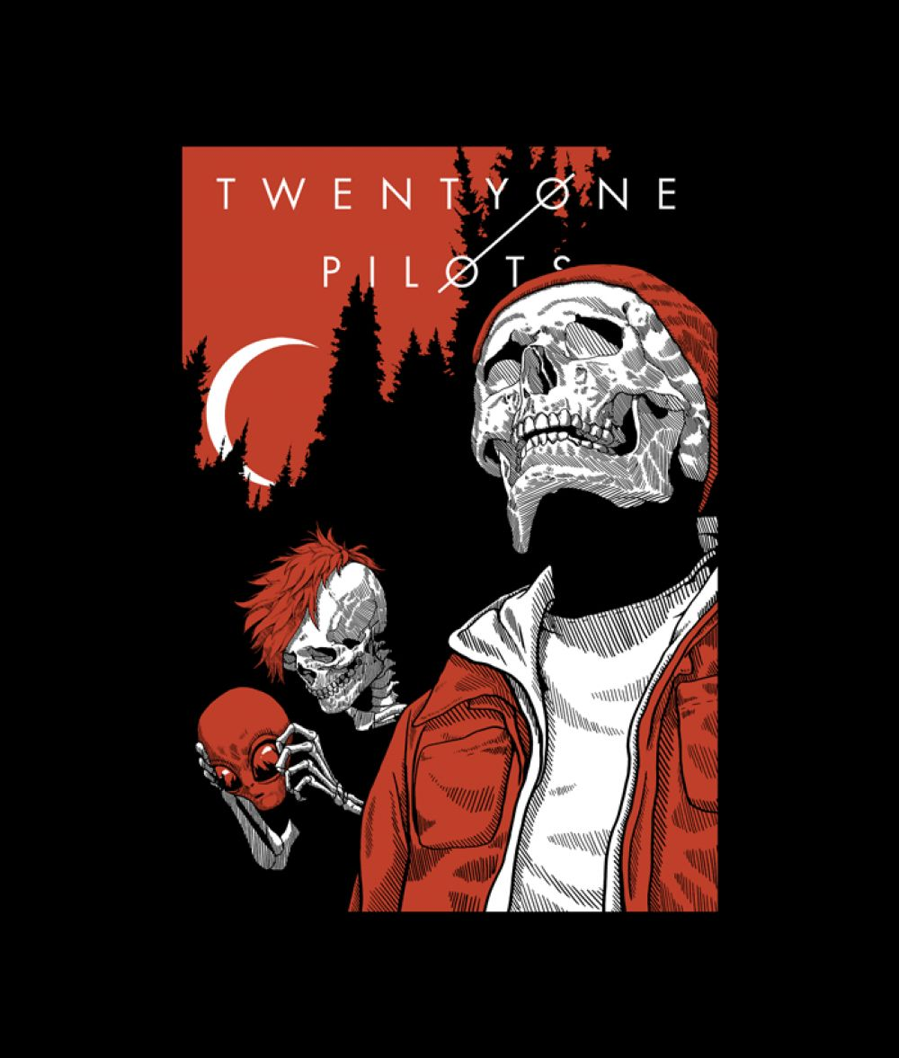 Alien And Skull Twenty One Pilots T Shirt in 2019 | Band T