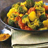 Broccoli with Turmeric and Tomatoes  Looking for recipes with Tumeric and this looks easy and tasty!