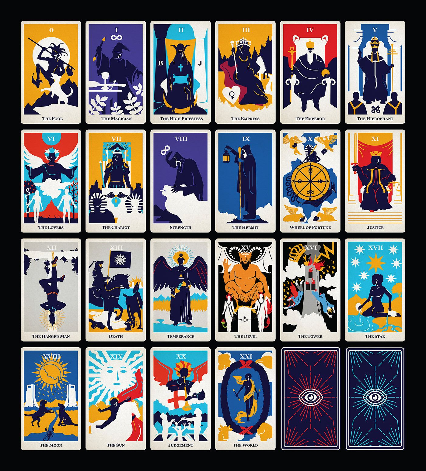 Modern Tarot Cards On Behance In 2020 Modern Tarot Cards Tarot