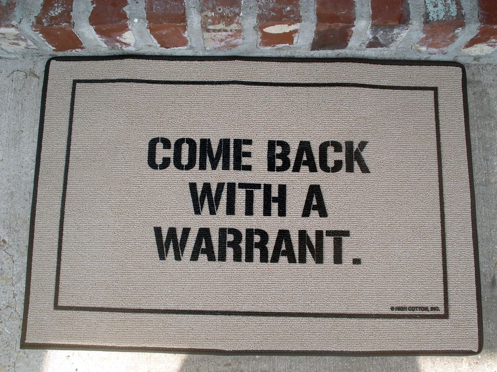 """Back With a Warrant"""" Doormat Outdoor door mat"""