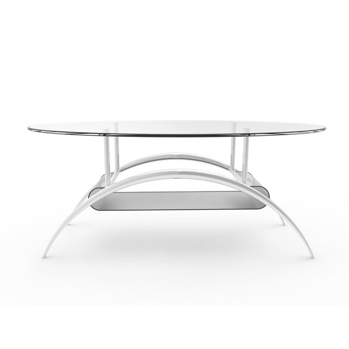 Ryan Rove Cleveland 38 Inch Glass Coffee Table With Black Mesh Magazine Holder Con Modern Coffee Tables Ashley Furniture Living Room Oval Glass Coffee Table [ 1200 x 1200 Pixel ]