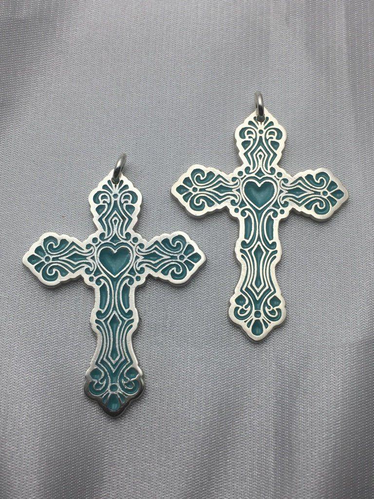 Enamel cross, silver cross, enamel on silver, champleve