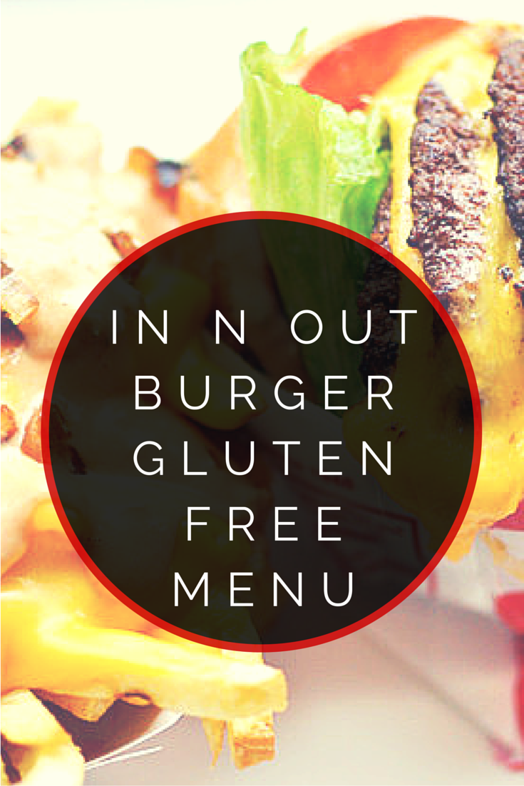 in n out burger gluten free menu