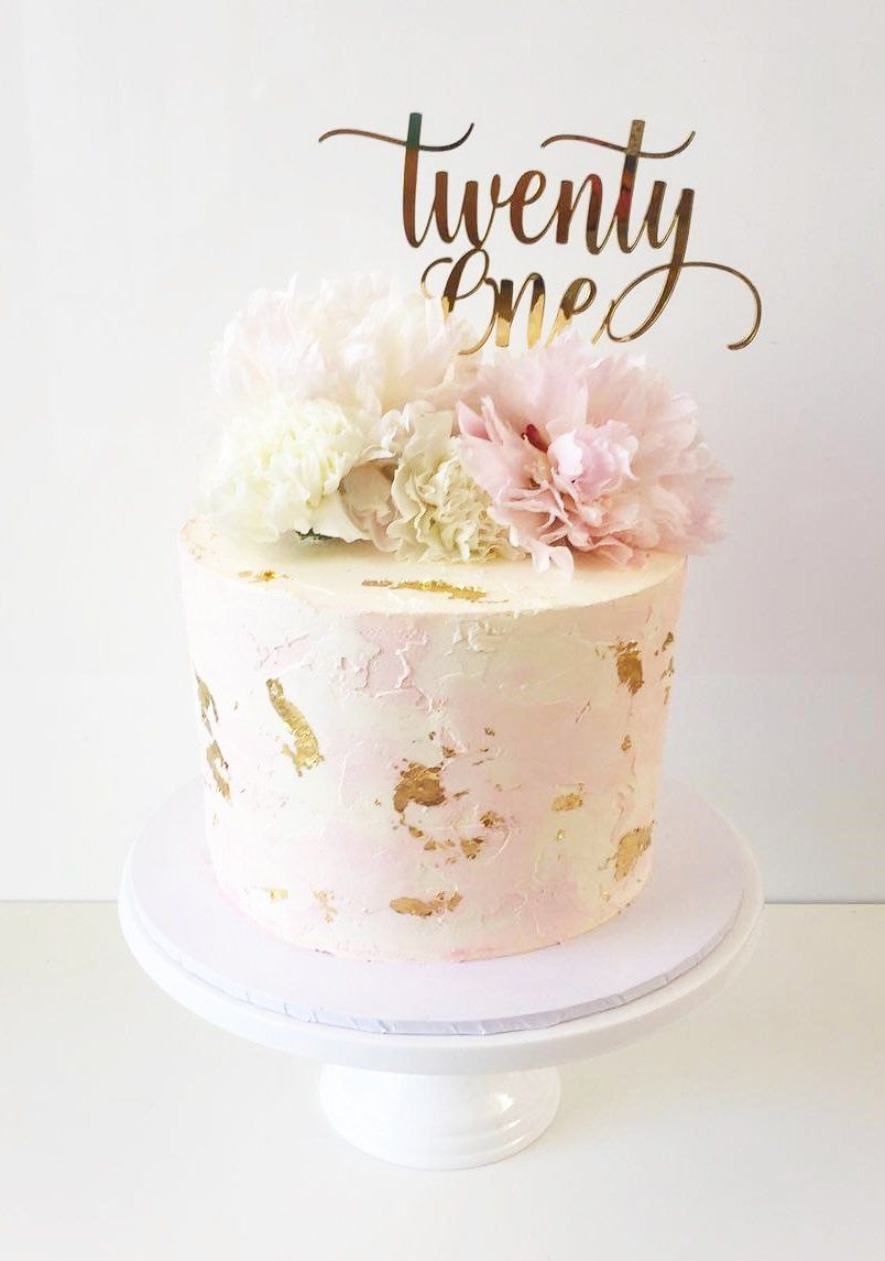 Image Of Twenty One Swirl Cake Topper