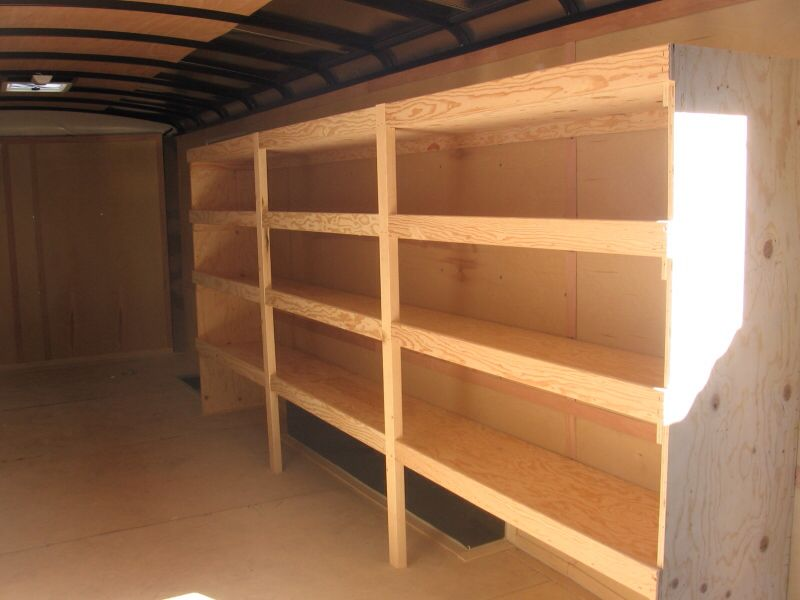 Pin By Parker On Tool Storage Trailer Shelving Enclosed