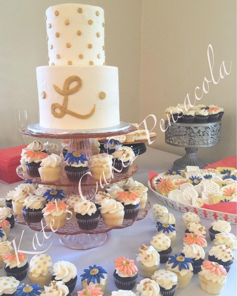 Wedding Cake And Cupcakes Pensacola Florida Kates Cakes