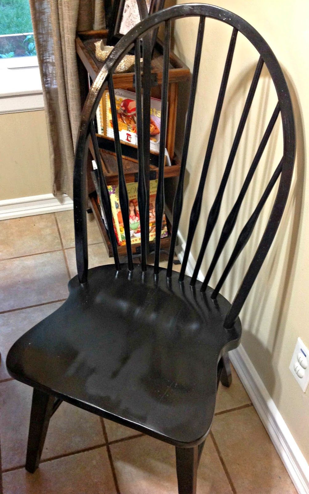 How To Repaint Wrought Iron Patio Furniture: How To Repaint Wood Chairs With Spray Paint! Windsor Chair