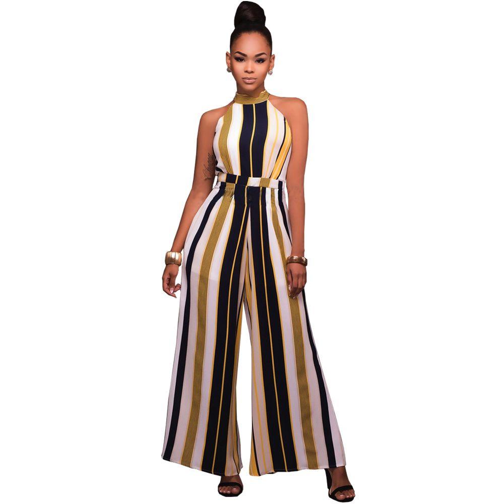 ec1c54143 Fashion Big Women Sleeveless Maxi Overalls Belted Wide Leg Jumpsuit S-2XL Plus  Size Macacao Long Pant Jumpsuits Playsuit Wear  Affiliate