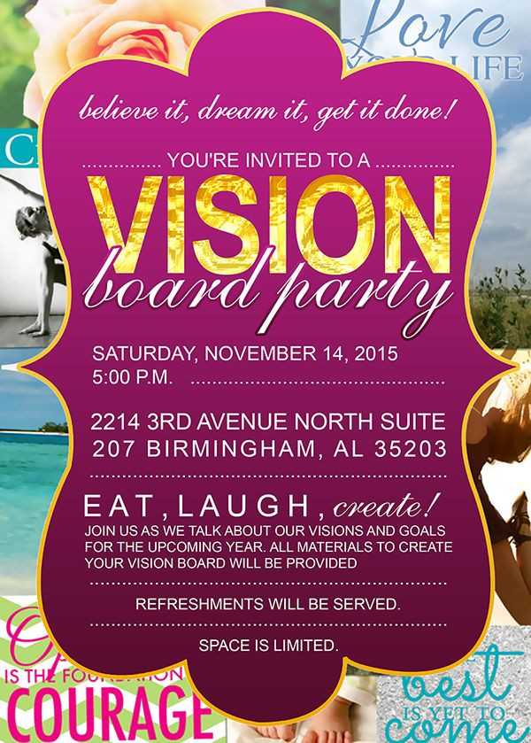 Visioniboardpartysmall Jpg 600 839 Vision Board Party Pinterest