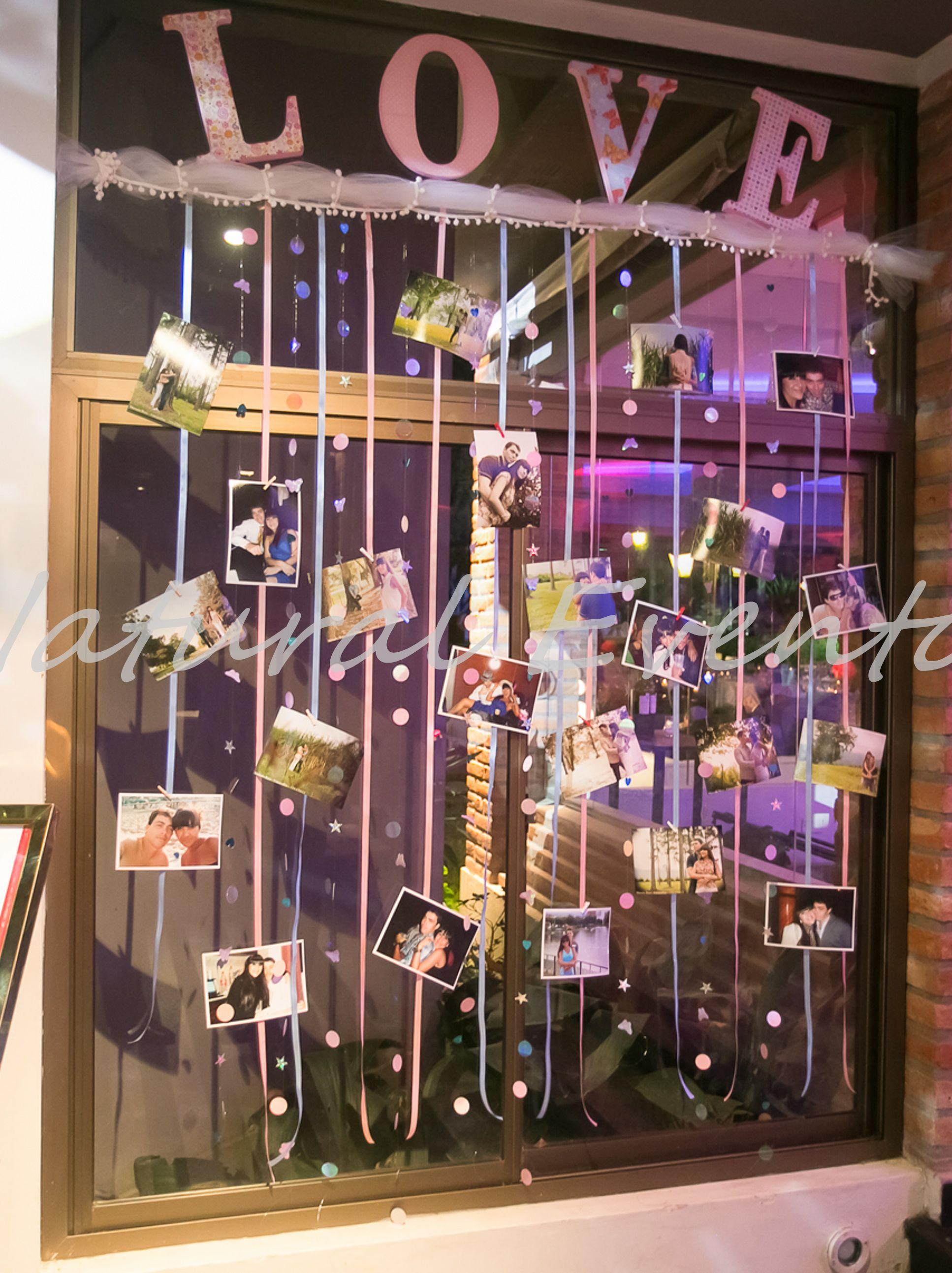 Panel de fotos con detalles y mucho amor bodas for Cuartos decorados para aniversario