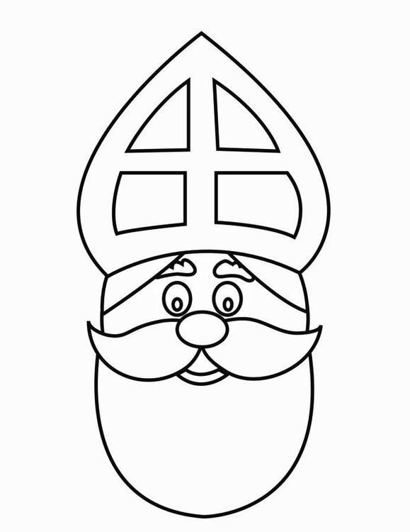 Malvorlage Gesicht Vom Nikolaus Bilder Für Schule Und Unterricht