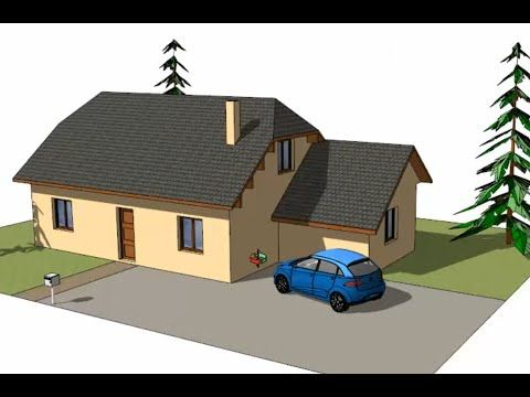 Tuto Dessiner sa maison avec SketchUp, chapitre #1 : dessin d\'une ...