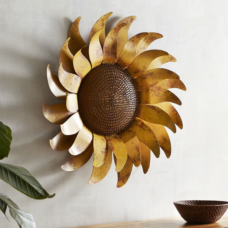 Sunflower Metal Wall Decor | Pier 1 Imports in 2019 | Metal ...