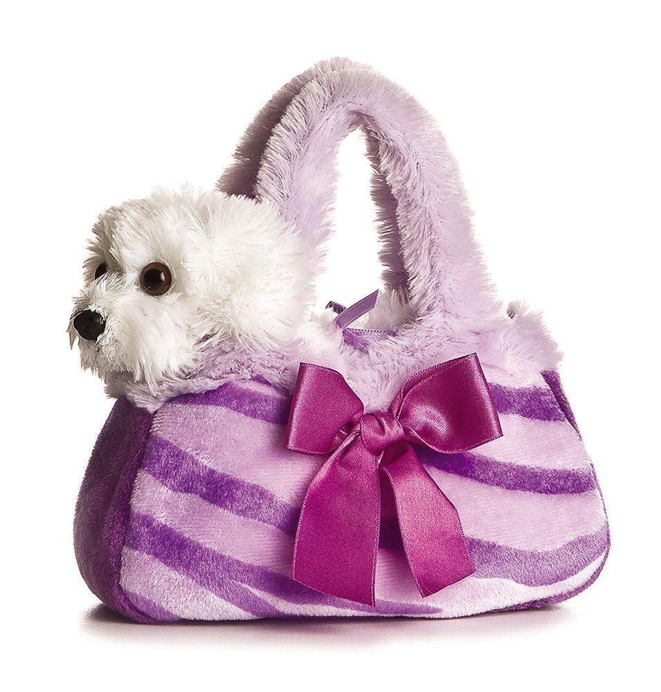 Aurora Plush Purple Pretty Pup Fancypal Purse The Hip Est Fancy Pals Auroraplush Pet Carriers Pretty Poodles Animal Plush Toys
