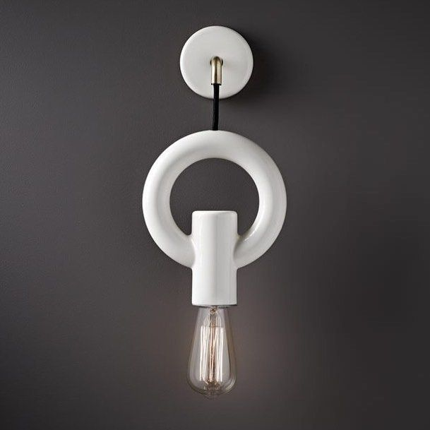 The new I-O-N O wall sconce pure poetic geometry and simplicity. Here it's been photographed against one of our favorite Dulux colours called Bear Suit we're convinced they designed this one for us..!! Many thanks to our friends @duluxaus you guys are the best!! by porcelainbear