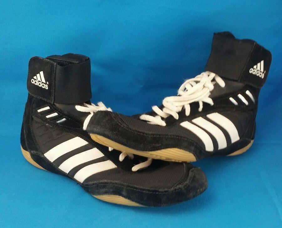 Men's black ADIDAS wrestling shoes APE 779001 Size 11.5 #Adidas