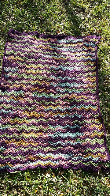 V-Stitch Crochet Ripple Afghan – Free Pattern | Crochet Afghans ...