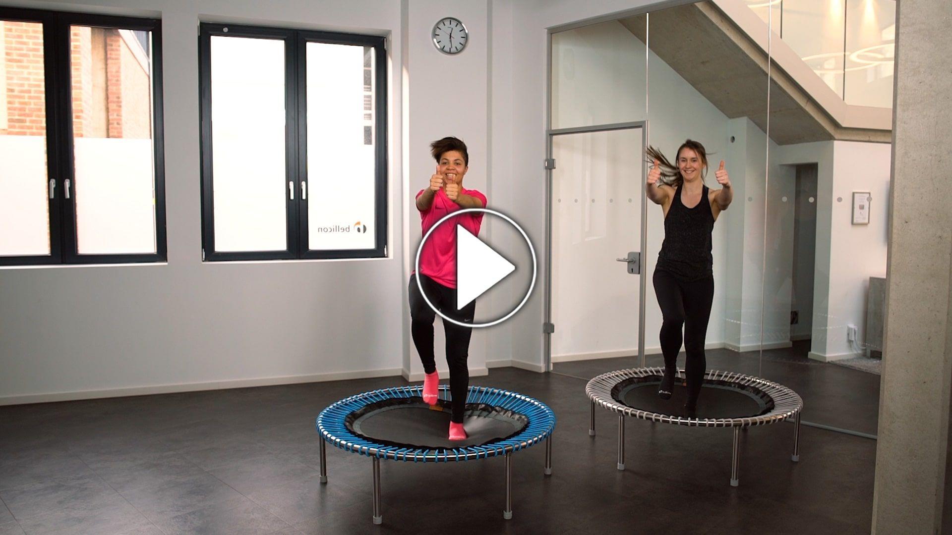 Kurzes Und Intensives Lauftraining Auf Dem Bellicon Minitrampolin Minitrampolin Trampolin Training Fitness Trampolin