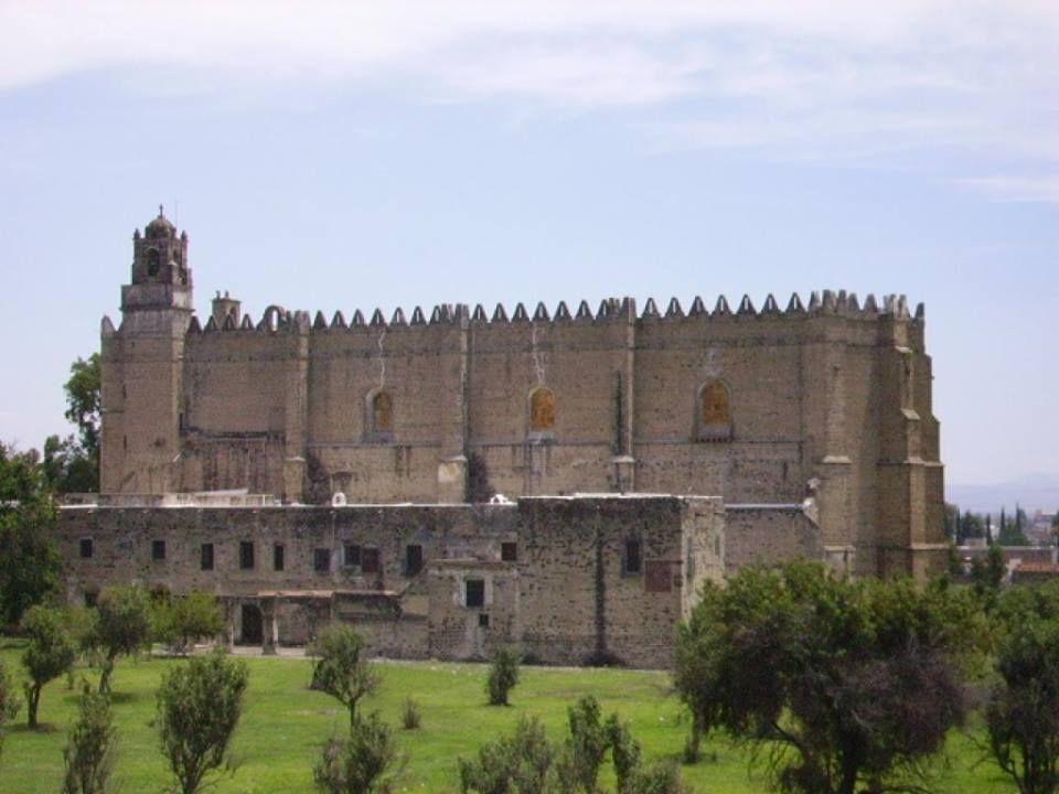 Ex-Convento de Huejotzingo inscrito como Patrimonio de la Humanidad. Uno de los cuatro primeros establecimientos franciscanos en la Nueva España,