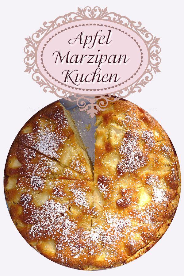 Obwohl wir über zahlreiche fantastische Apfelkuchen-Rezepte verfügen, gehört dieser Apfel Marzipan Kuchen zu den Favoriten in unserer Familie. Das Rezept ist absolut gelingsicher.  #Apfelkuchen #apfel-kuchen #apfelkuchenrezept #Marzipankuchen #Apfelkuchenrezept #Rezept für Apfelkuchen mit Marzipan