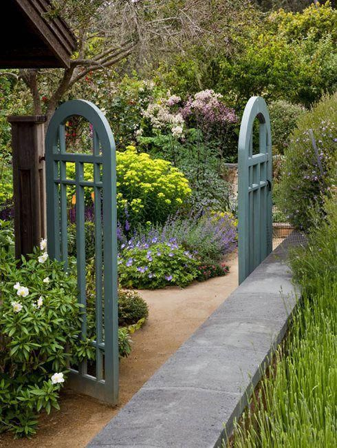 A garden gate makes such a wonderful addition to any outdoor space adding a decorative element of intrigue The gate can be welcoming or provide privacy See more spring ga...