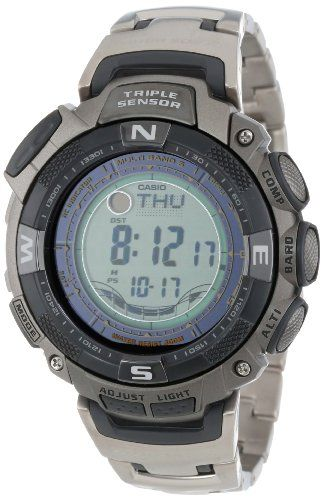 4369d04123f Casio Men s PAW1500T-7V Pathfinder Multi-Band Solar Atomic Ultimate Watch Casio  Casio Watch