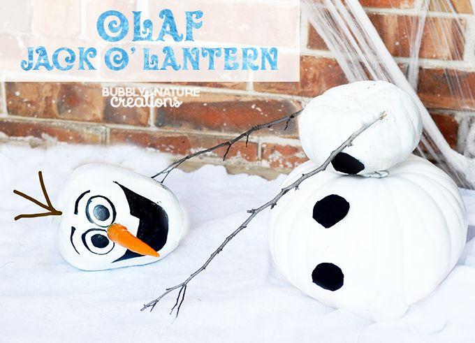 Olaf Jack-O-Lantern super cute and easy! FROZEN Halloween - frozen halloween decorations