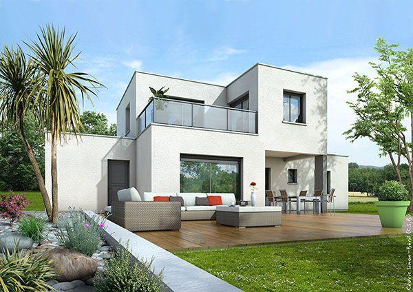 modele photos maison contemporaine toit plat Maison toit plat