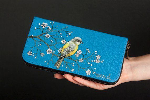 e01c6eb72c85 Wallet women. Women leather purse. Wallet zipper. Leather card ...