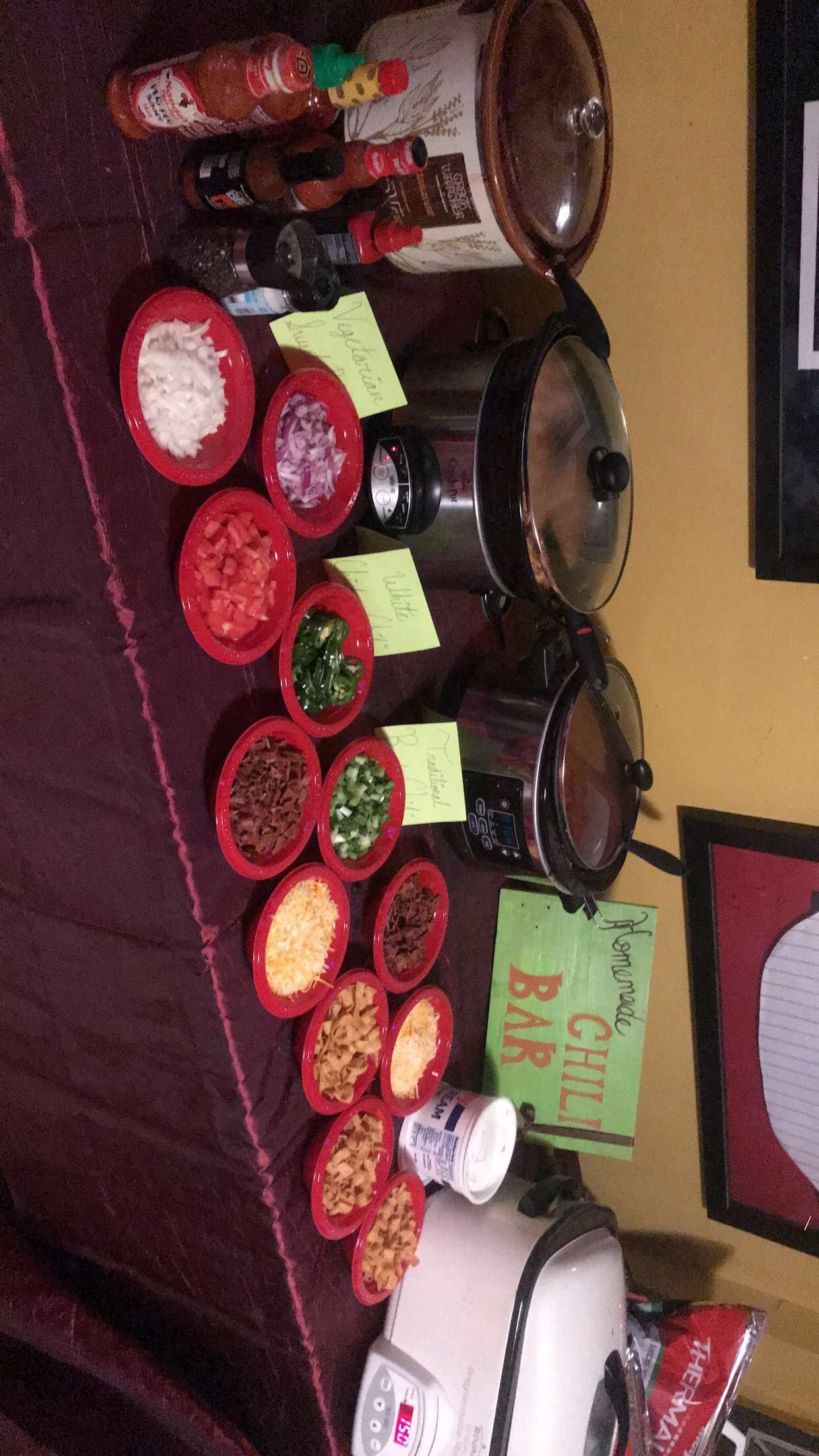 Homemade chili bar #chilibar Homemade chili bar #chilibar