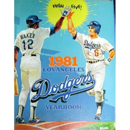Autograph Warehouse 42964 1981 Los Angeles Dodgers Yearbook Autographed By Rick Monday Ron Cey Dave Goltz Joe Beck Dodgers Baseball Posters Los Angeles Dodgers