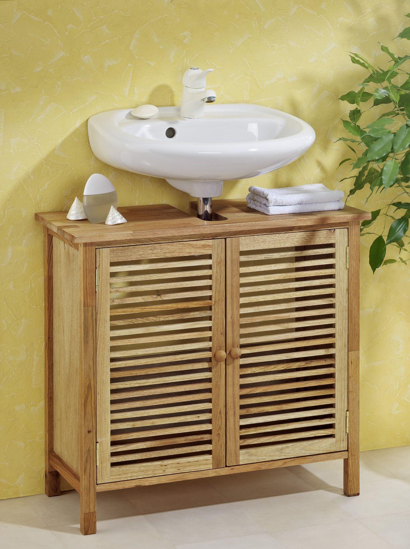 Genial waschbeckenunterschrank bambus   Kleine badezimmer in ...