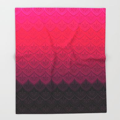 Throw Blanket featuring ELENA PATTERN - FLAMENCO VERSION by TotalBabyCakes