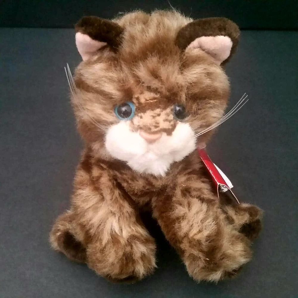 Russ Whiskers Dark Brown Tabby Cat Plush Stuffed Kitten Toy Kitty Handmade Russ Tabby Cat Orange Tabby Cats Tabby Cat Pictures