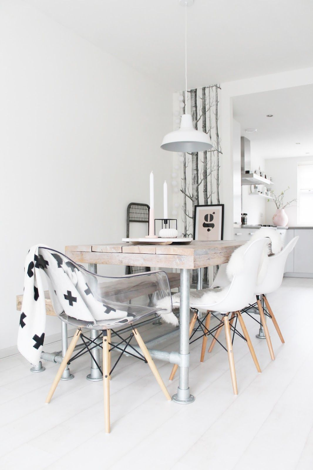 I want to host a dinner party in this white and light and dreamy and lovely dining room.