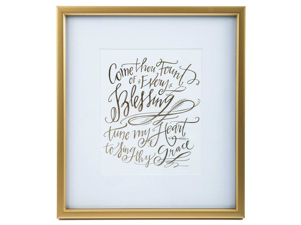 Lindsay Letters Come Thou Fount of Every Blessing Wall Art: Shiny ...