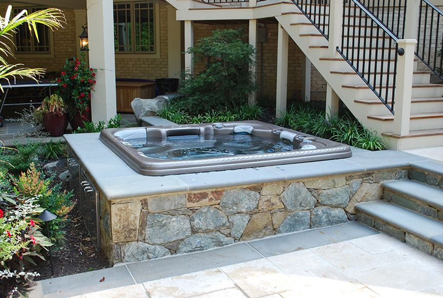 Landscape Designers Create Custom Outdoor Hot Tubs For Homeowners All Over  Maryland