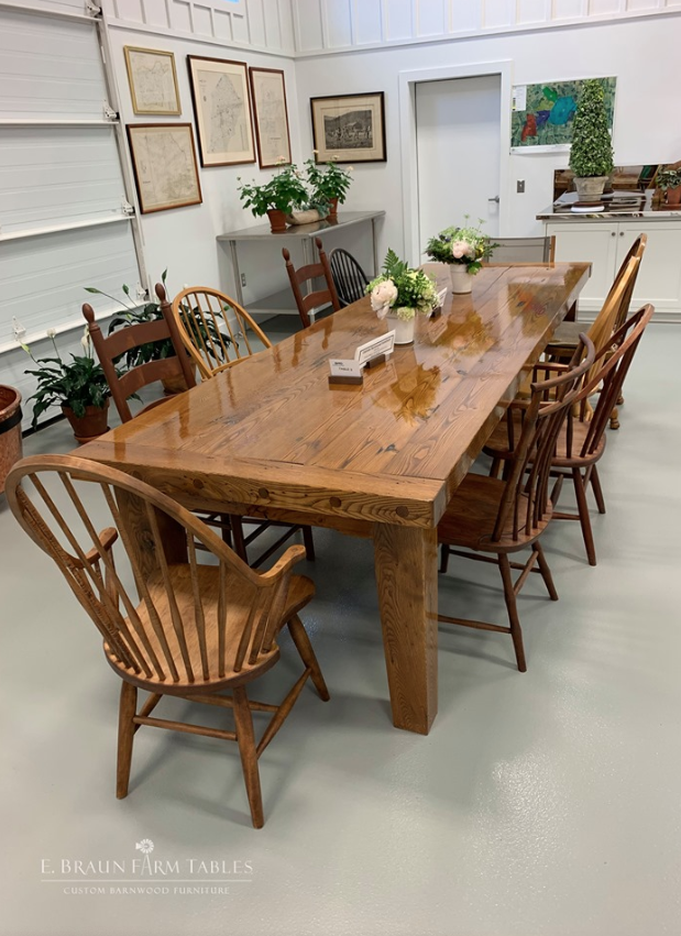 Large Farmhouse Table American Chestnut Large Farmhouse Table Farmhouse Table Large Tables