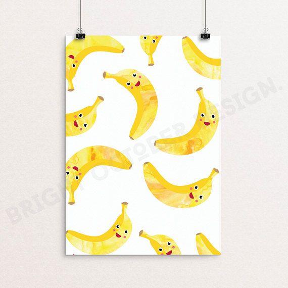 Banana Print Printable Art Digital Download Nursery Wall Printable Art Banana Print Print