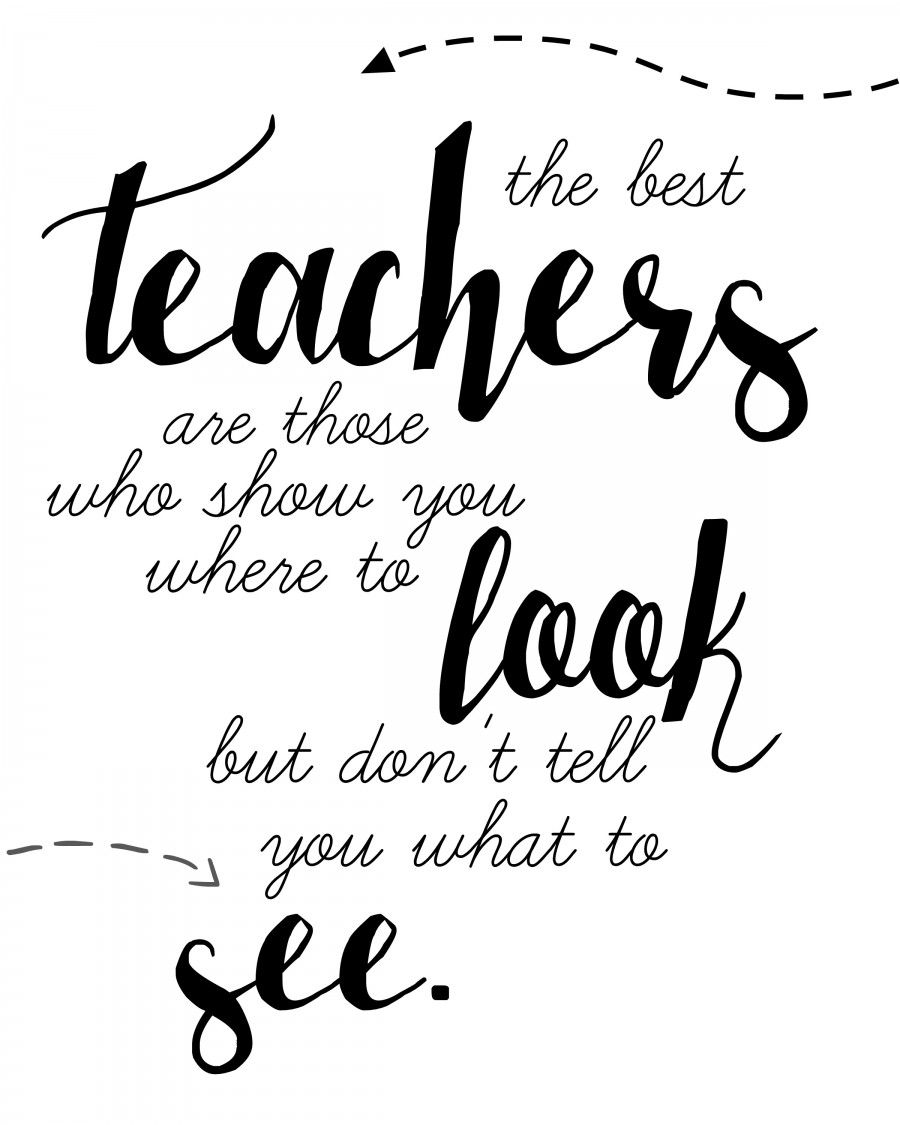 Punchy image with free printable teacher appreciation quotes