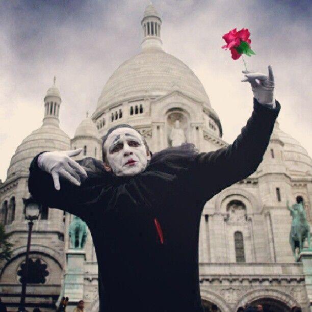 2007, Παρίσι στα σκαλιά της Μονμάρτης.