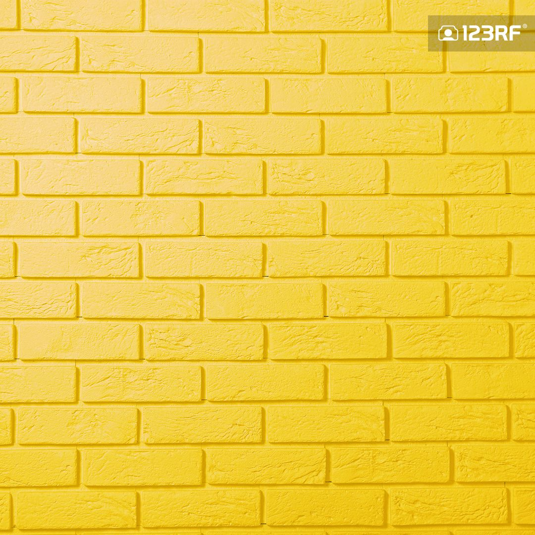Stock Photo Brick wallpaper yellow, Brick wall