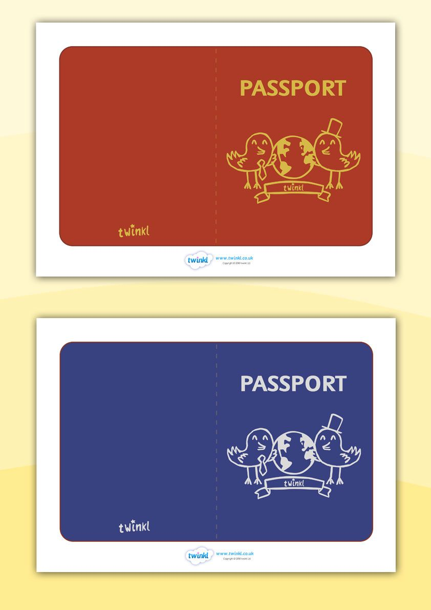 Twinkl Resources  General Passport Templates  Classroom