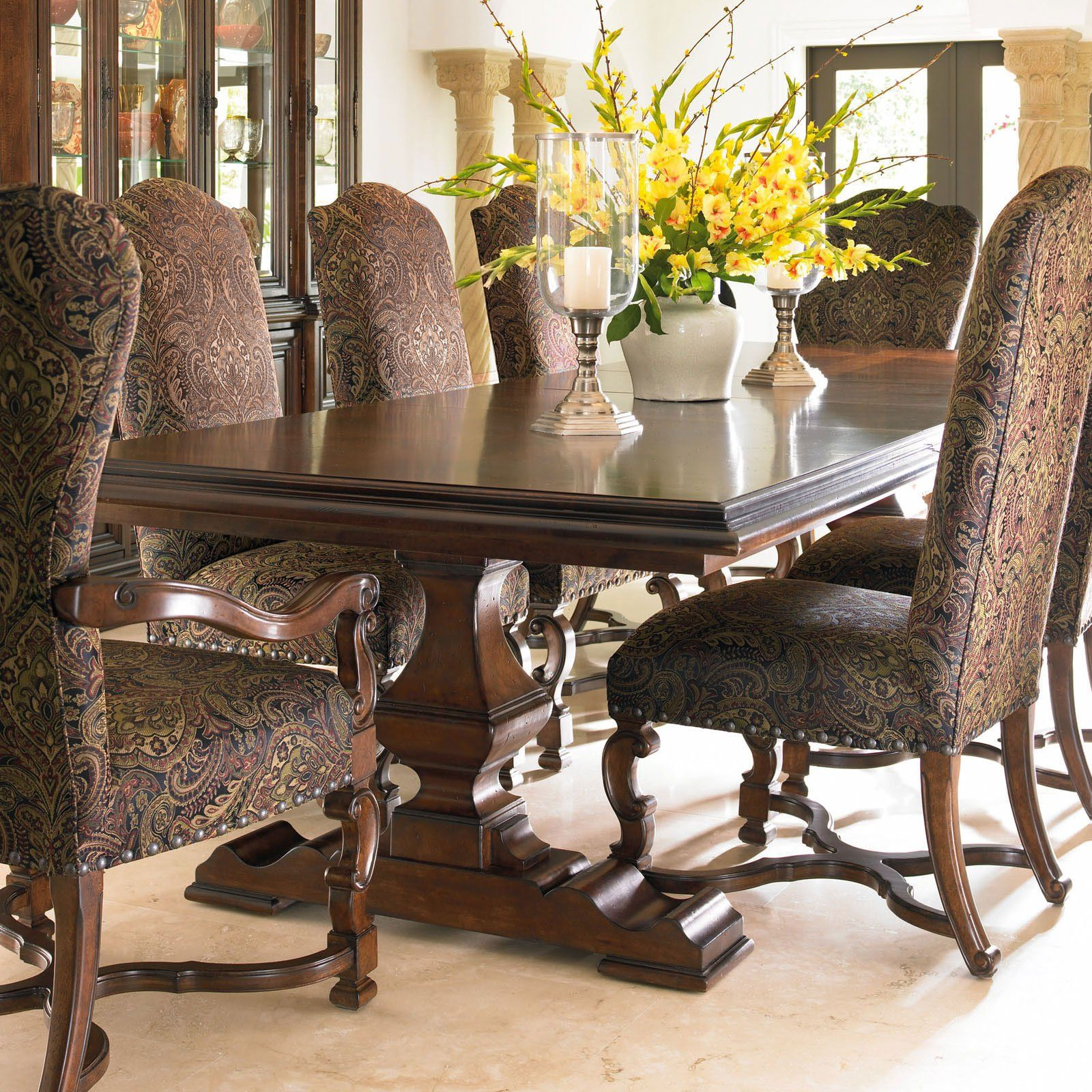 Attirant Room · Have To Have It. Stanley Furniture Montecito Grande Balustrade  Double Pedestal Dining Table ...