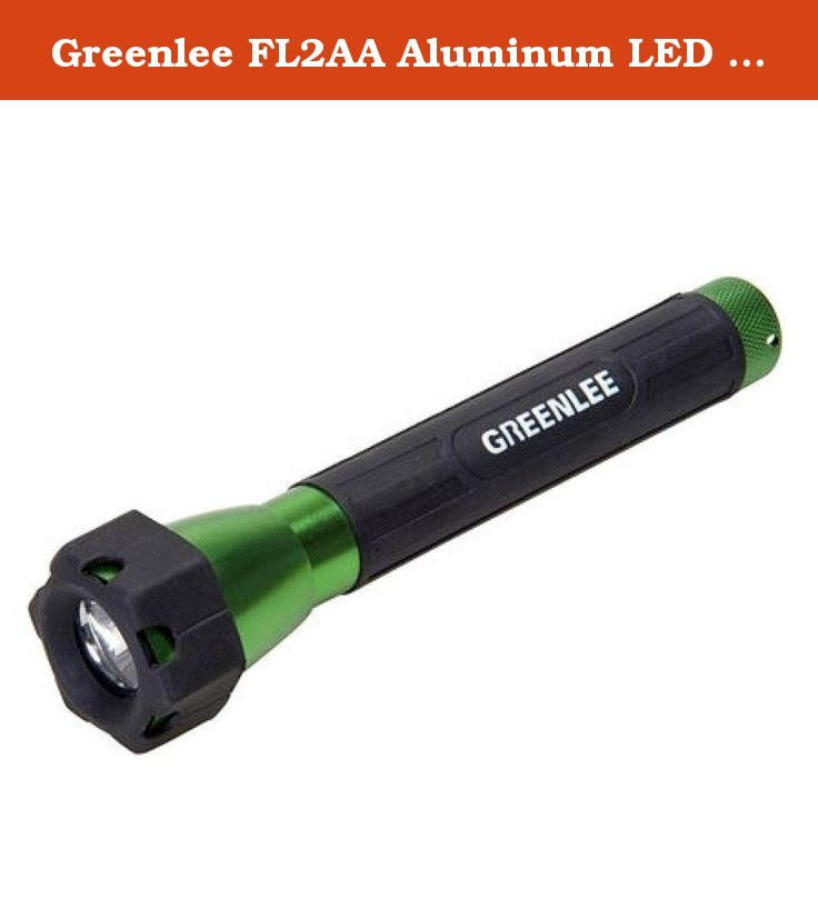 Greenlee FL2AA Aluminum LED Flashlight. FEATURES:• Long-life LED light source• 1 watt bulb - 20 Lumens• 50,000 hour life• 2 brightness settings to extend battery life (for D and C sizes)• Digitally regulated for constant brightness• 4 times the battery life of equivalent Xenon• Aircraft grade anodized aluminum• Rugged all-weather design.
